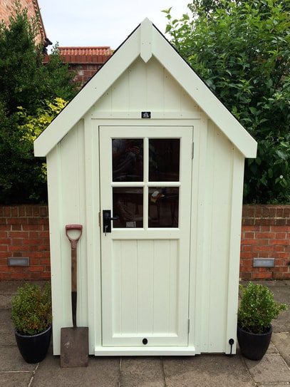 cosy shed posh shed sentry box luxury shed tool tidy